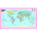 world wall map robinson projection poster size 21x36 rolled laminated