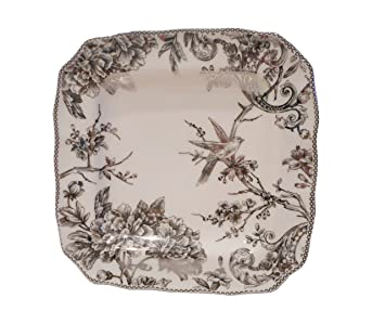222 Fifth Adelaide Silver Electroplate Dinner Plate Silver and Off White 10.75 Inches  sc 1 st  Amazon.com & Amazon.com | 222 Fifth Adelaide Silver Electroplate Dinner Plate ...