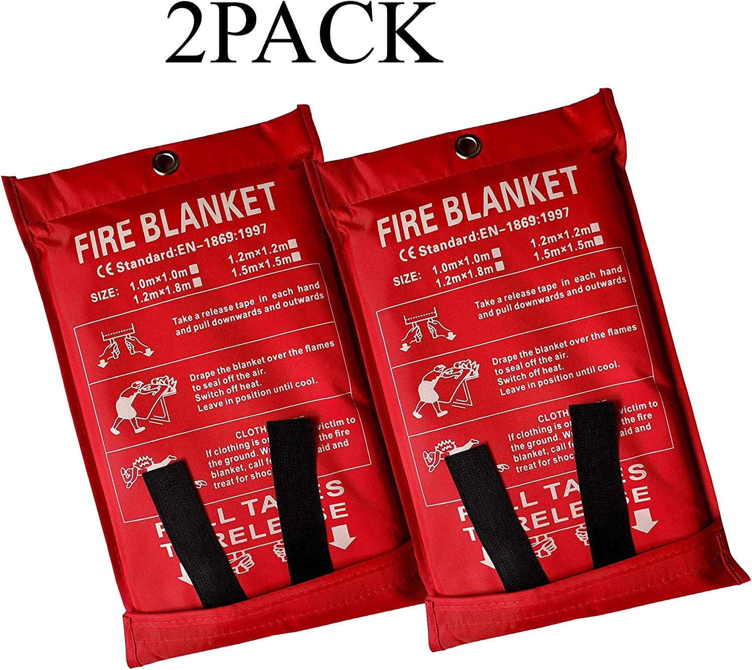 Grill 5Pack 39x39 in car Fireplace Camping Victosoaring Emergency Survival Fiberglass Fire Blanket Shelter Safety Cover Ideal for The Kitchen