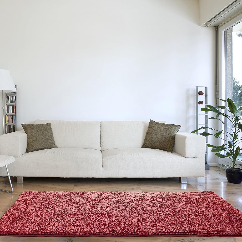 Amazon.com: Lavish Home High Pile Shag Rug Carpet - Coral - 30x60 ...