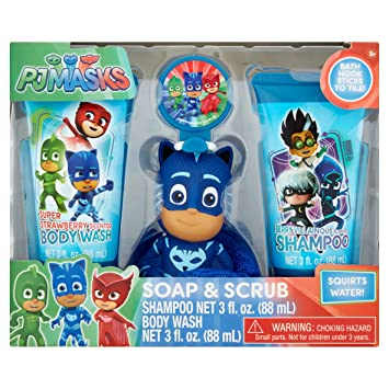 PJ Masks Soap & Scrub Shampoo and Body Wash Bath Set