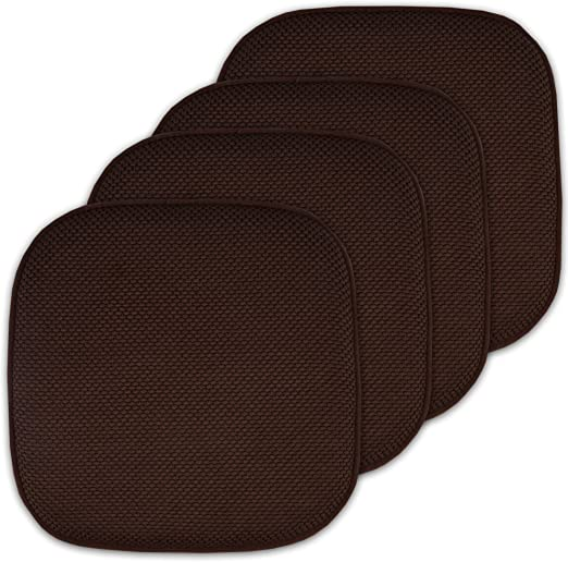 2 Round Dining Garden Chair Cushions Seat Pads Black /& White Faux Leather 14 ½""