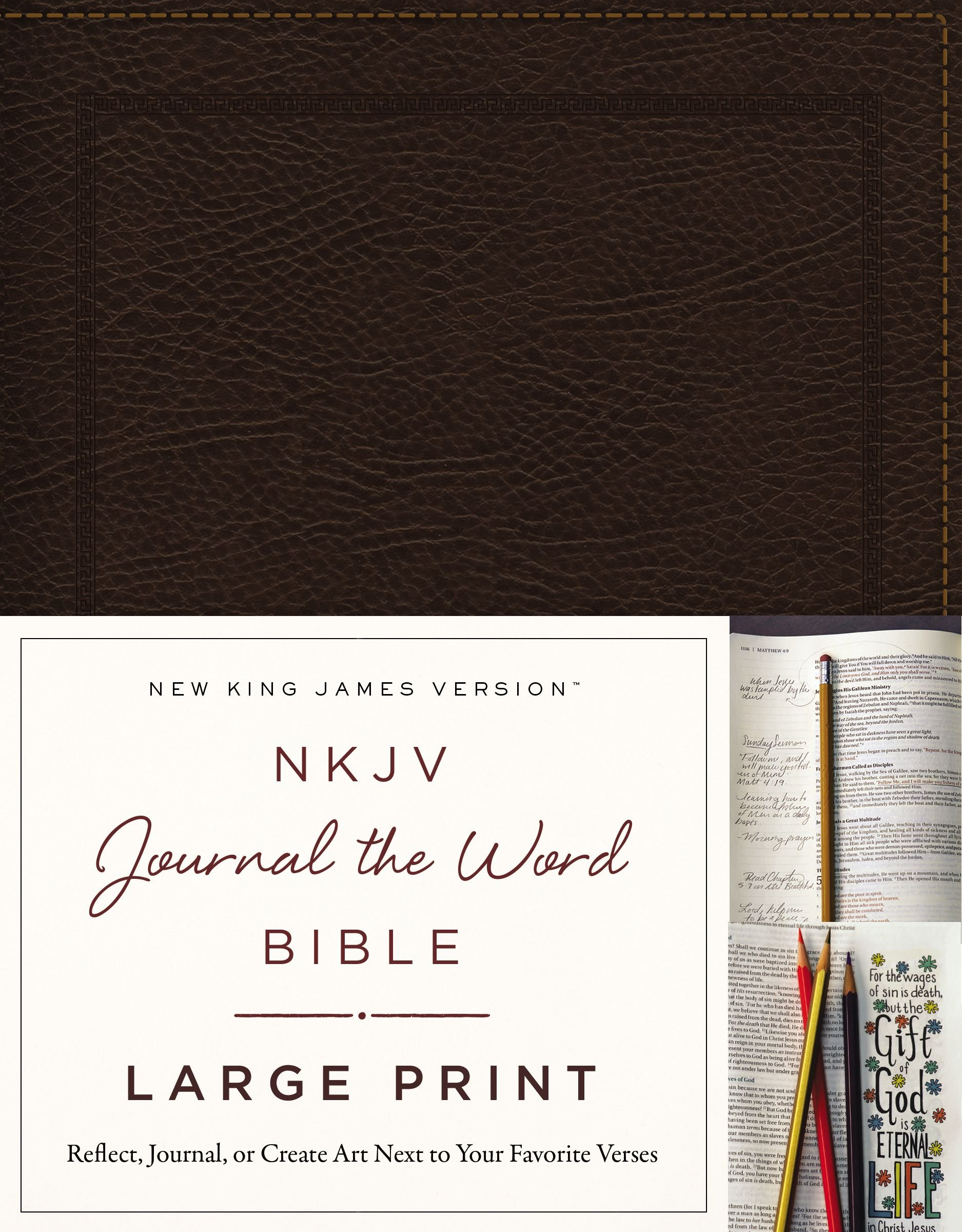 Bonded Leather, Brown, Red Letter Edition: Reflect, Journal, Or Create  Art Next To Your Favorite Verses: Thomas Nelson: 9780718090890: Amazon:  Books