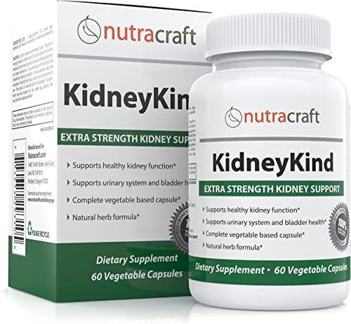 1 Kidney Support and Detox Supplement – Natural Kidney Cleanse and Bladder Care Formula for Kidney and Urinary Health – with Buchu, Juniper, Uva Ursi, Cranberry Nettle Leaf – 60 Vegetable Capsules
