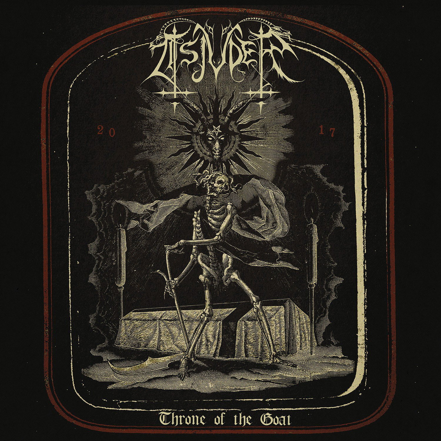 CD : Tsjuder - Throne Of The Goat (CD)