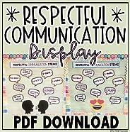 Respectful Communication Language Stems Bulletin Board