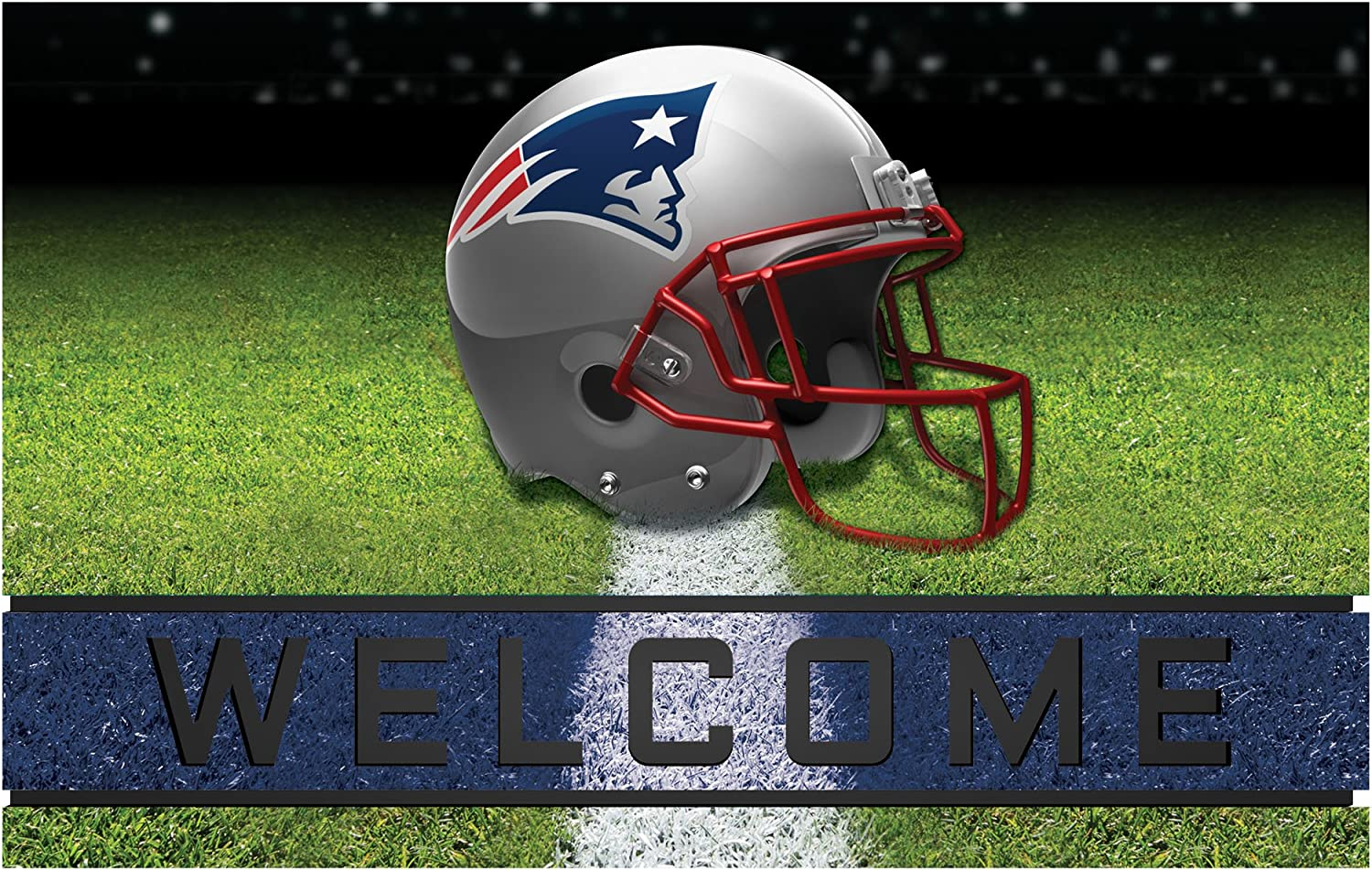 FANMATS 19951 Team Color Crumb Rubber New England Patriots Door Mat, 1 Pack, One Size