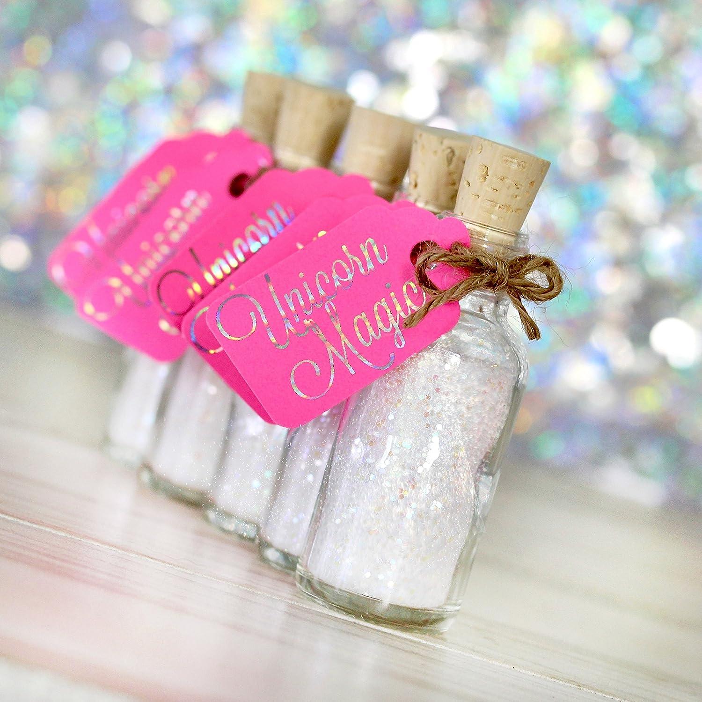 Amazon.com: White Glitter Unicorn Birthday Party Favors - Set of 10 ...