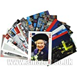London View Postcards - A Selection Pack of Approximately 20 London Postcards with one of H M Queen Elizabeth II
