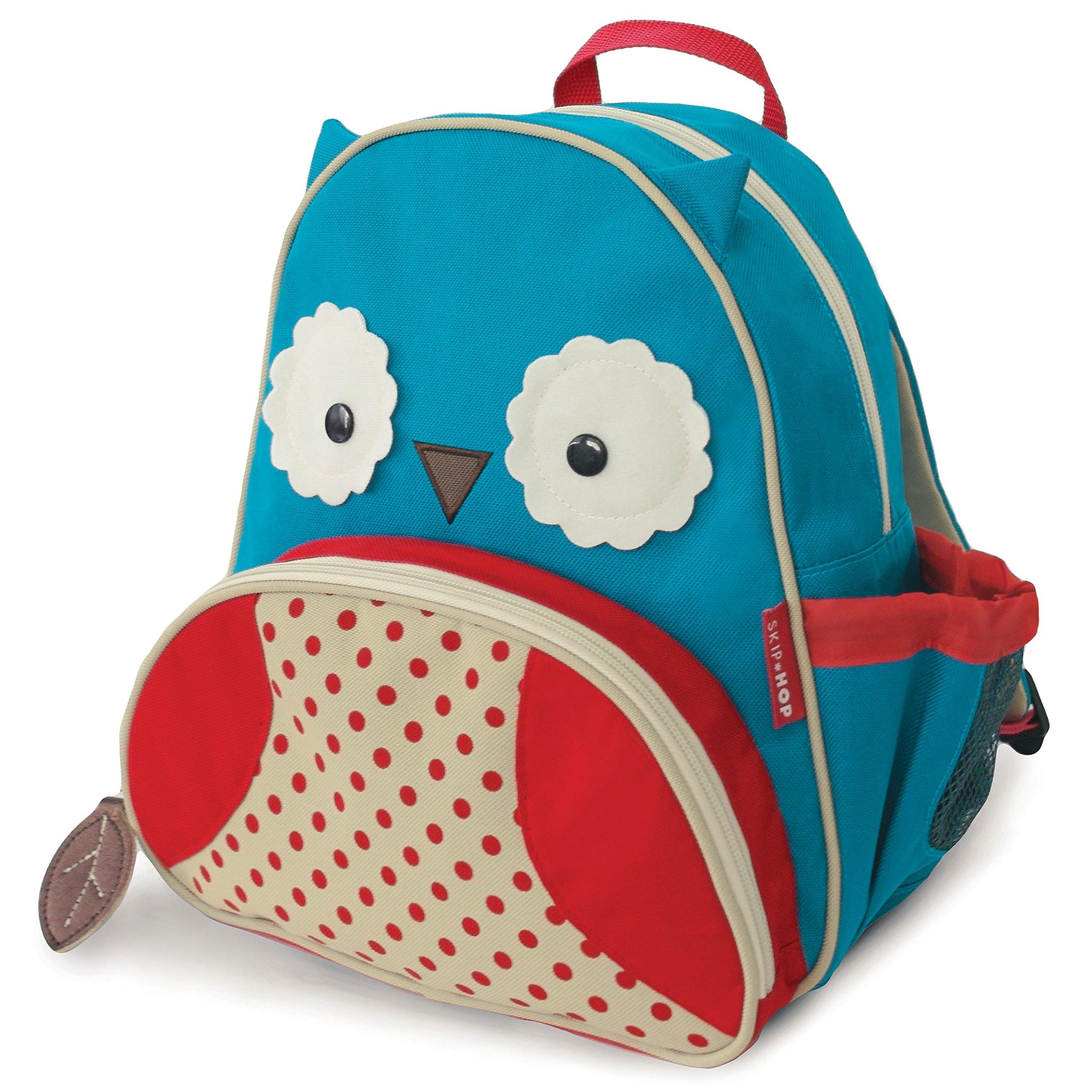 Skip Hop Zoo Insulated Toddler Backpack Otis Owl, 12'' School Bag,