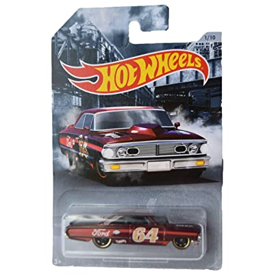 Hot Wheels American Steel Series '64 Galaxie 500 1/10, red: Toys & Games