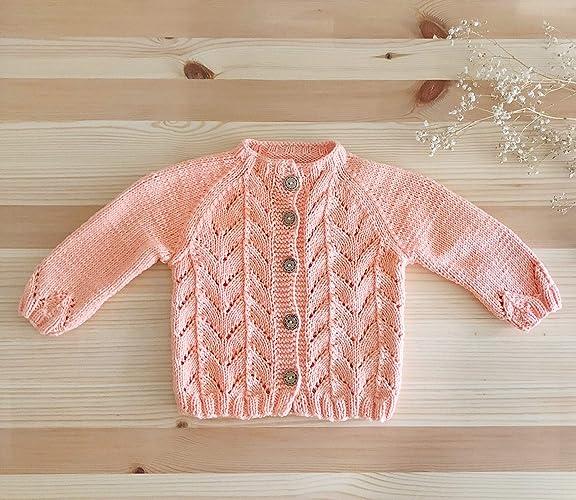 437ed3a29 Amazon.com  Handmade Baby Cardigan - GOTS 100% Organic Cotton ...