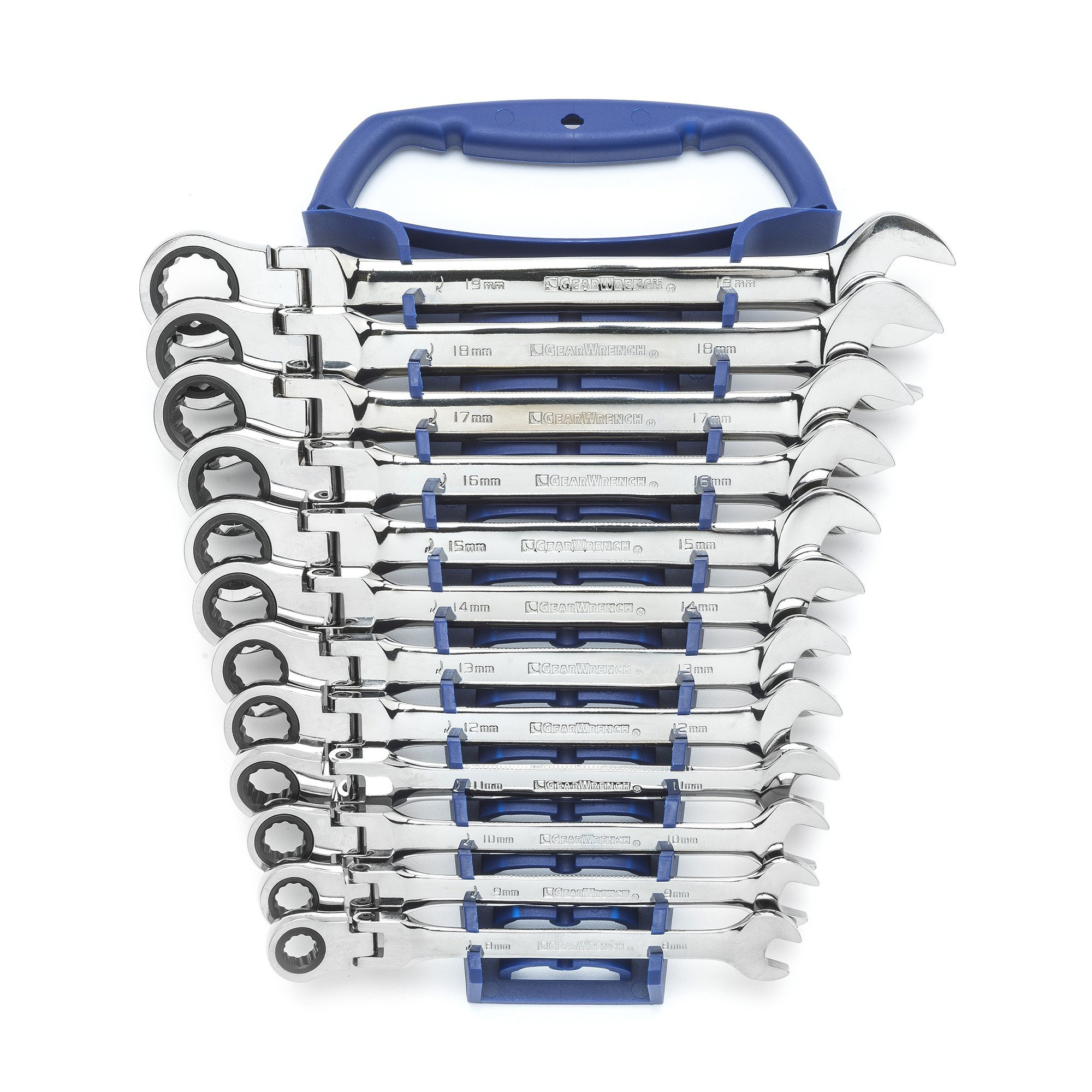 GEARWRENCH 12 Pc. 12 Point Flex Head Ratcheting Combination Metric Wrench Set - 9901D by GearWrench