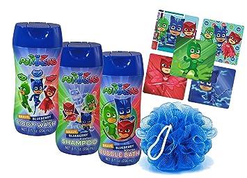 Pj Masks Super Hero 4pc Bathroom Collection! Includes Body Wash, Shampoo, Bubble Bath