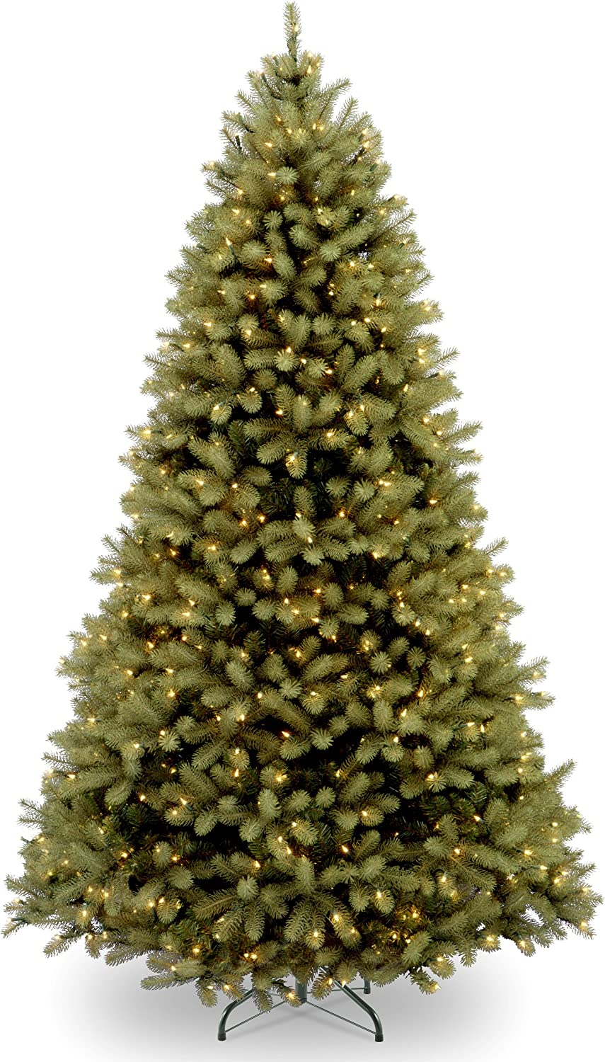 """National Tree 6 Foot """"Feel Real"""" Downswept Douglas Fir Tree with 600 Clear Lights, Hinged (PEDD3-312-60)"""