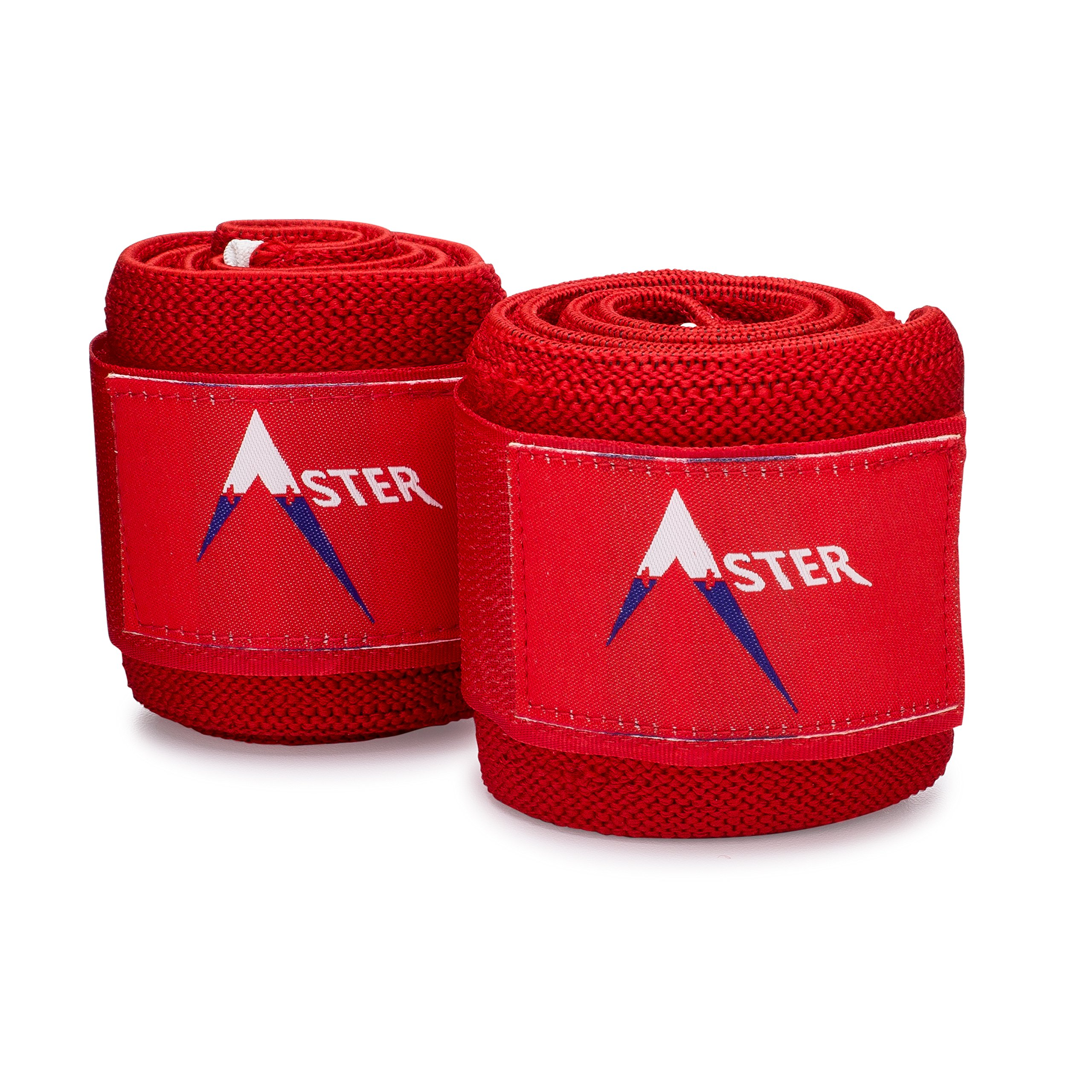 Aster Wrist Wraps - (34' Premium Heavy Duty) Wrist Wraps With Patented Palm Loop Design - For Powerlifting & Strength Training - USPA & IPL Powerlifting Federation Approved Product