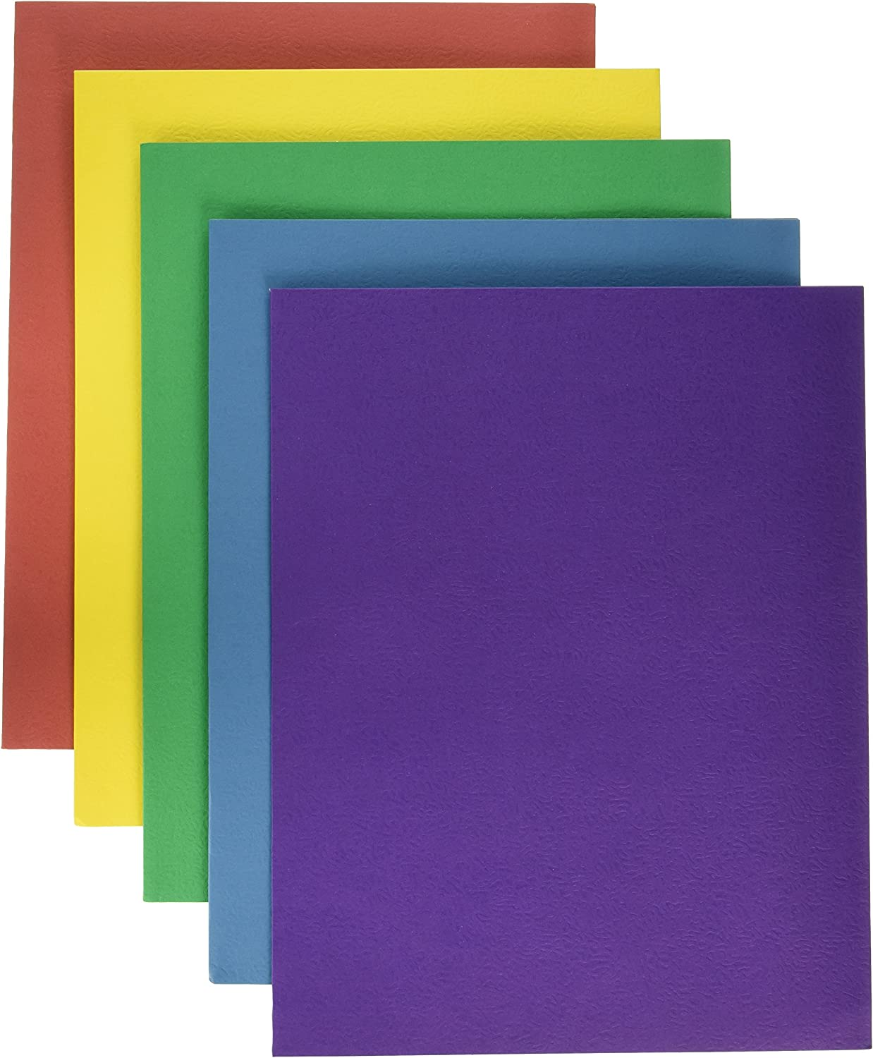 School Smart Extra Large 2-Pocket Folders, 9 x 12 Inches, Assorted Colors, Pack of 25 : Project Folders : Office Products