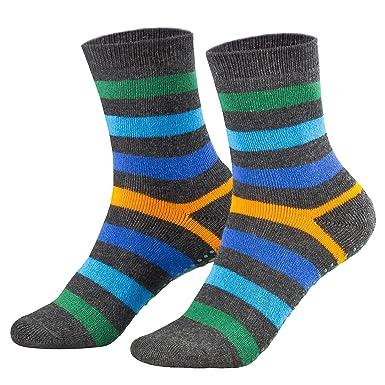Piarini - 2 pares de calcetines para niño y niña - Rizo y ABS - Varios colores: Amazon.es: Ropa y accesorios