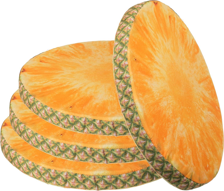 Coussin de si/ège aspect fruit d/écoratif Coussin de chaise en diff/érents motifs