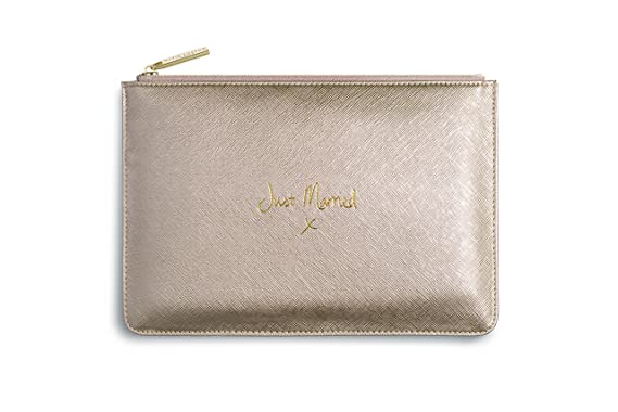 de2a060f244 Katie Loxton - Perfect Pouch - Just Married - Metallic Gold: Katie Loxton:  Amazon.co.uk: Clothing