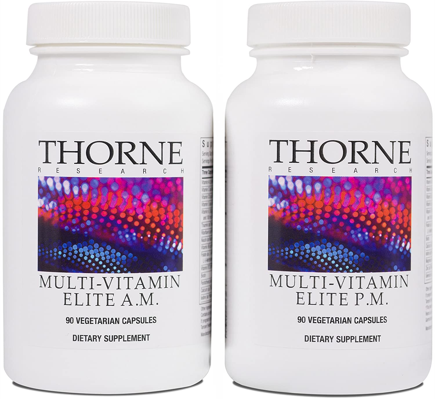 Thorne Research – Multi-Vitamin Elite – A.M. and P.M. Formula to Support a High-Performance Nutrition Program – NSF Certified for Sport – 180 Capsules Thorne Research