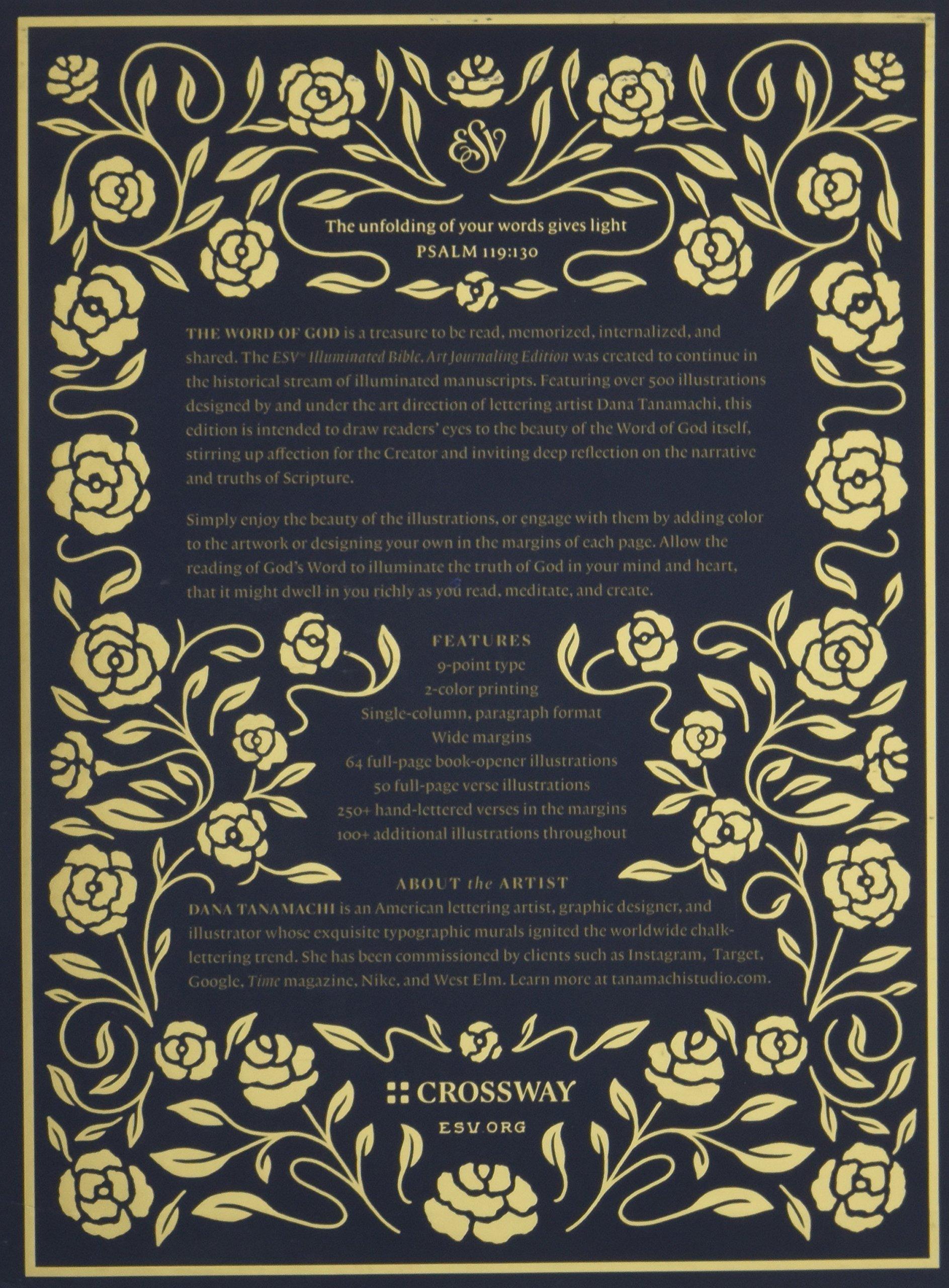 Esv Illuminated Bible Art Journaling Edition Cloth Over Board