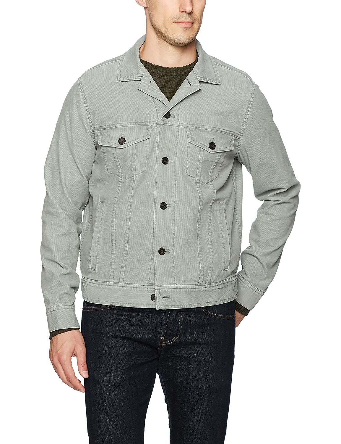 1389a9f55ee Michael Bastian Men s Pigment Dyed Stretch Corduroy Trucker Jacket at  Amazon Men s Clothing store