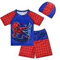 DSL Spider Boy - Bañador de 3 piezas para niños