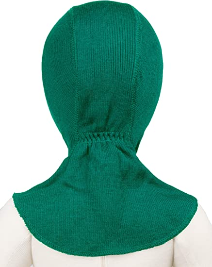 Green Grows with Your Child Ocean Wave Non-Itchy ManyMonths Natural Elephant Hood Balaclavas Winter Beanie Warm 100/% Merino Wool for Boys and Girls