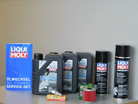 Kit de mantenimiento Kawasaki KLR 650 aceite de aceite Bujía ...