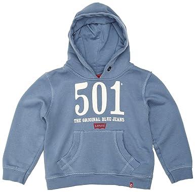 Levis Sweater, Sudadera para Niños, Azul 10 años (140-146 ...