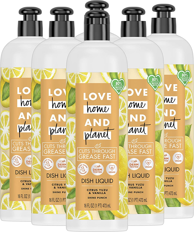 Love Home and Planet Love Home and Planet Dish Soap Citrus Yuzu & Vanilla 16oz, 6pk, 6 Count