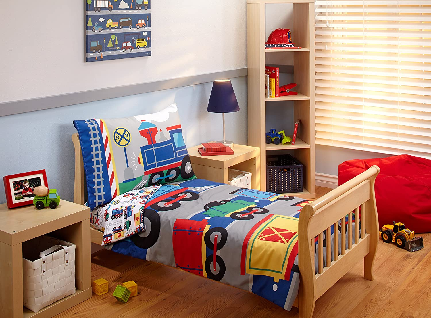 everything kids by nojo toddler bedding set choo choo amazonca baby