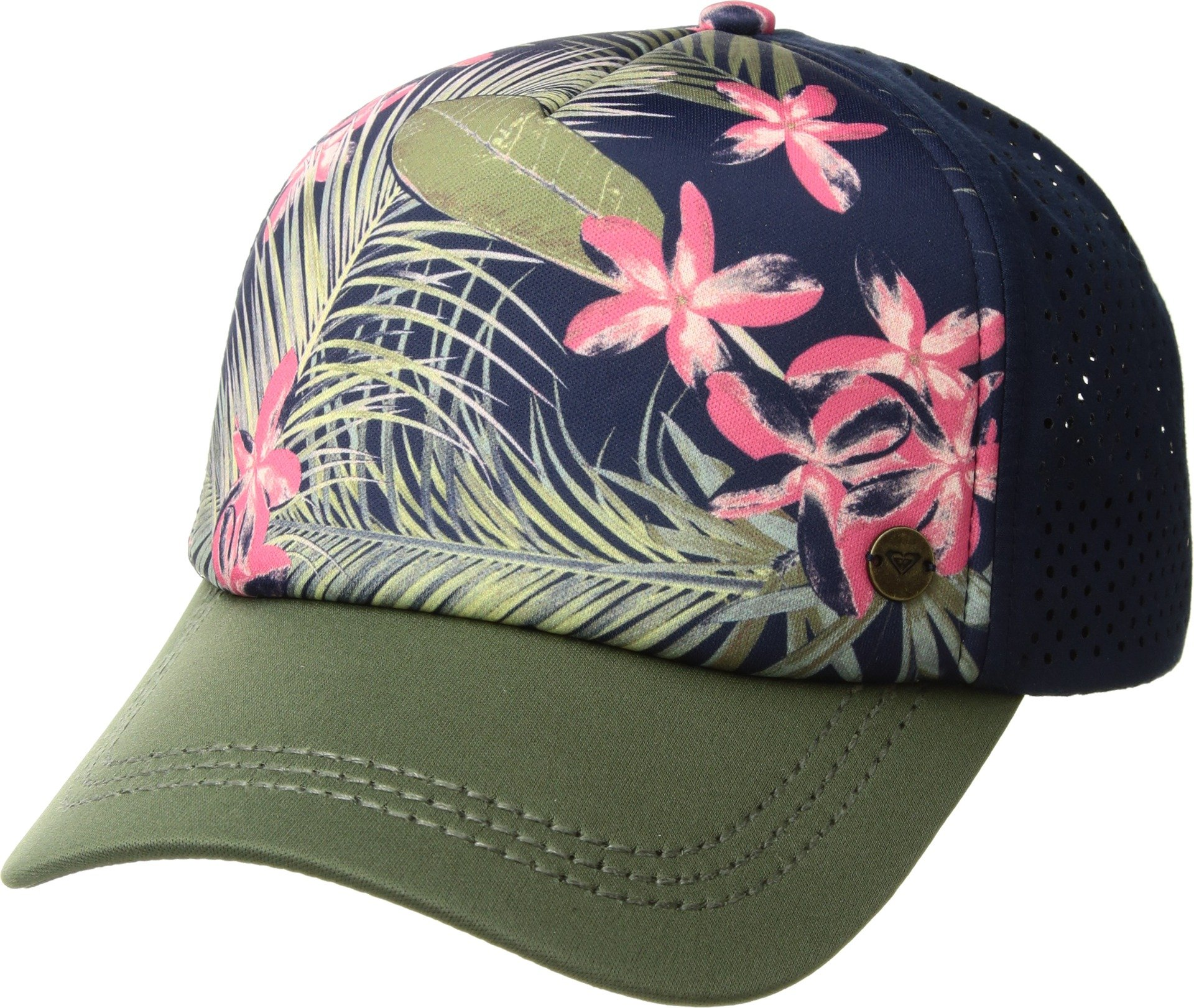 e9189970f2df2 Galleon - Roxy Womens Waves Machines Adjustable Hat One Size Dress Blues  Tiare Flower