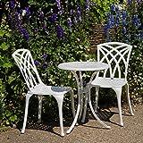 Ensemble bistro - Table Blanche Ella avec 2 chaises May