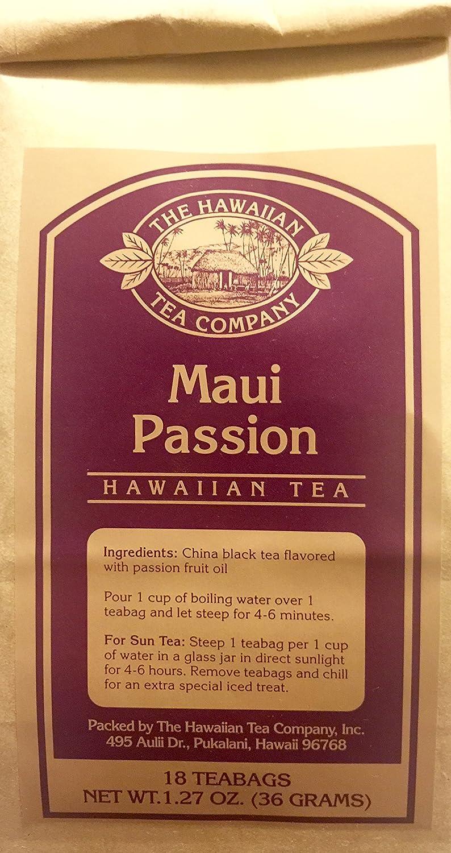 Hawaiian Tea Co  Maui Passion, 18-Count