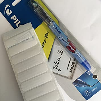 2 x Pilot Laundry-Tec //Stoff//Textil Dauerhafte Tinte Markierstift Schwarz