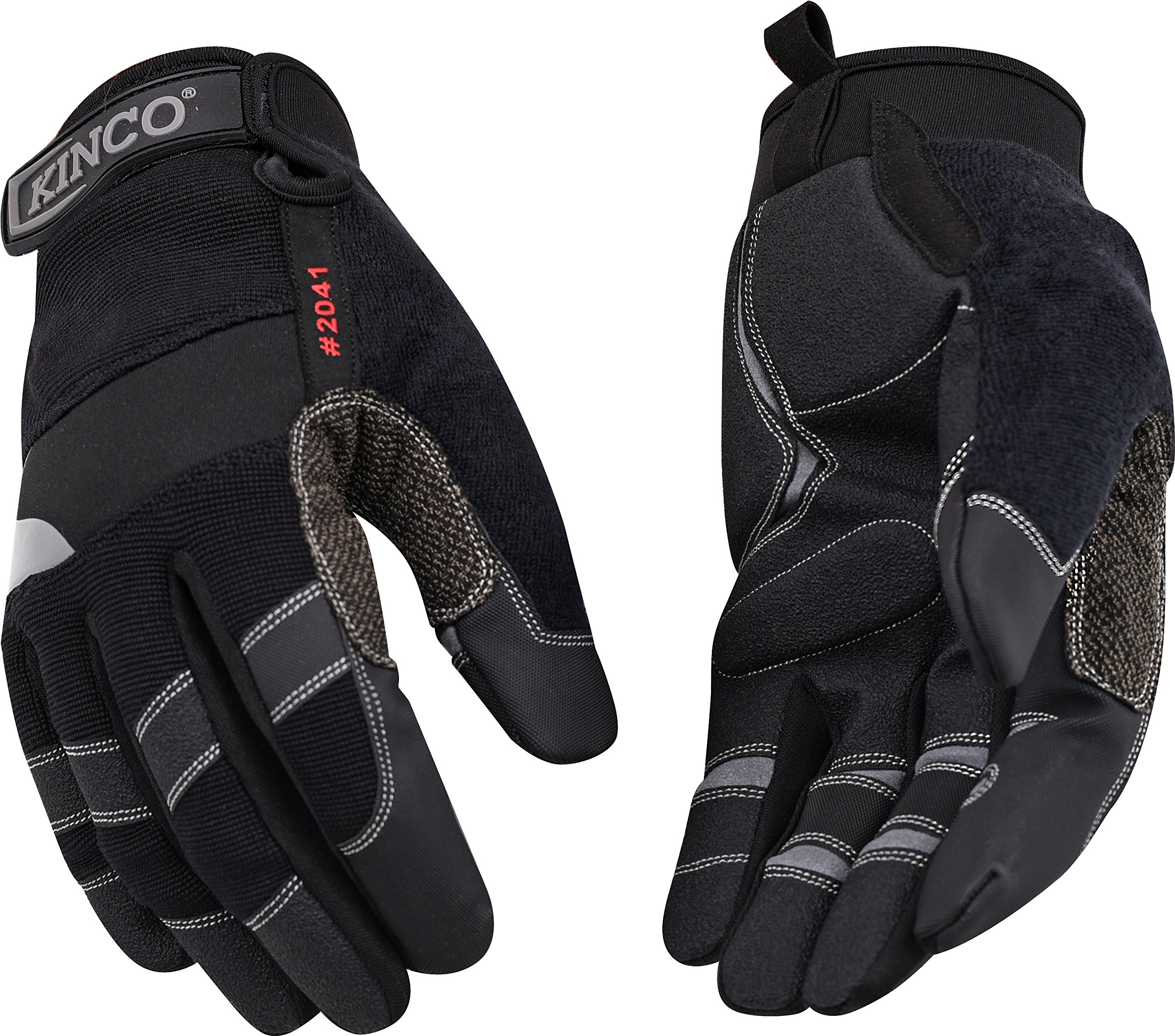 Kinco 2041 KincoPro Unlined General Medium Duty Synthetic Leather Glove with Black Back, Work, X-Large, Gray (Pack of 6 Pairs) by KINCO INTERNATIONAL