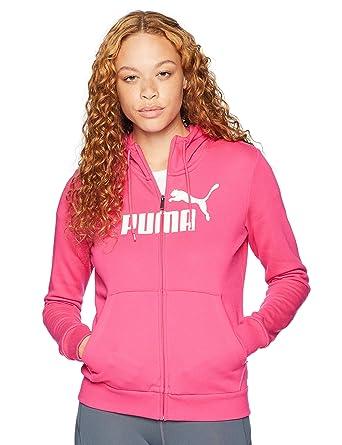 1b97ef5ed185 PUMA Womens Ess Logo Hooded Jacket FL Hoodies   Sweatshirts  Amazon ...