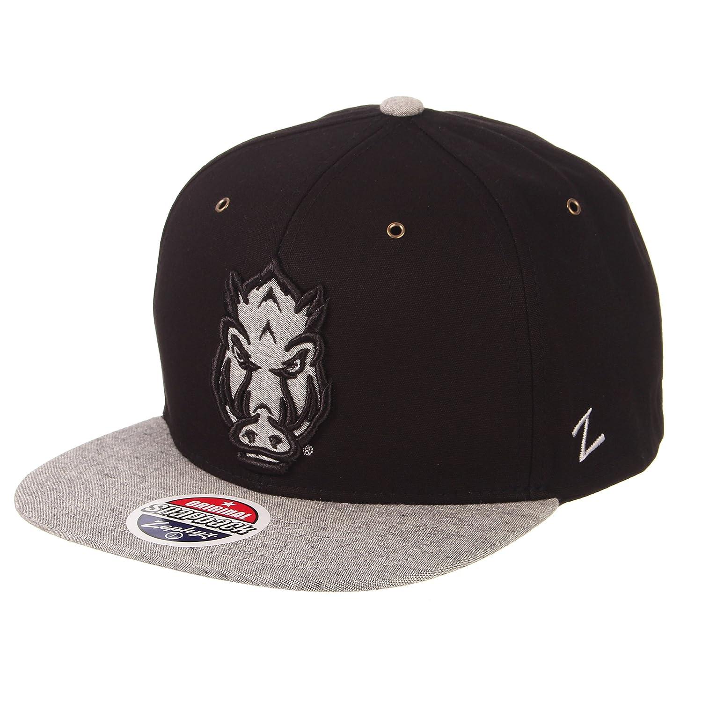 Adjustable Black//Grey Zephyr Mens Boss Snapback Hat