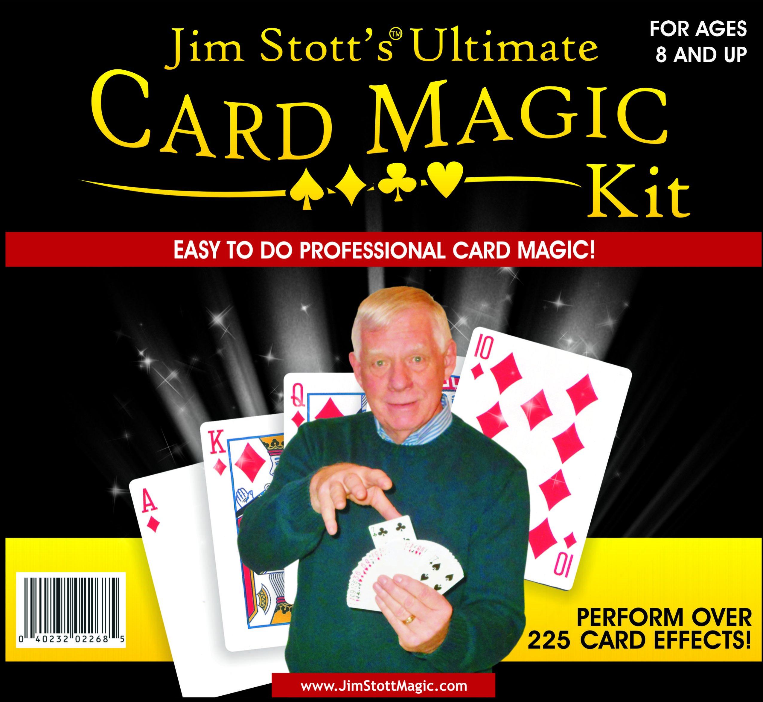 Jim Stott's 'Ultimate Card Magic Kit, Magic Tricks Set for Adults, Svengali Card Deck, Phantom Marked Deck, The Wizard Stripper Deck, Vanishing Card Case, The Magic Card Box, and More by Jim Stott Magic