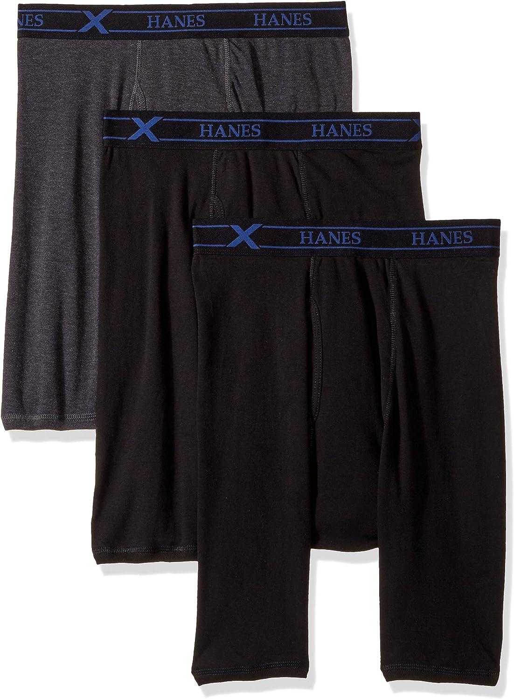 Hanes Boys Ultimate X-TEMP/® Long Leg Boxer Briefs with Comfort Flex/® Waistband 3-Pack