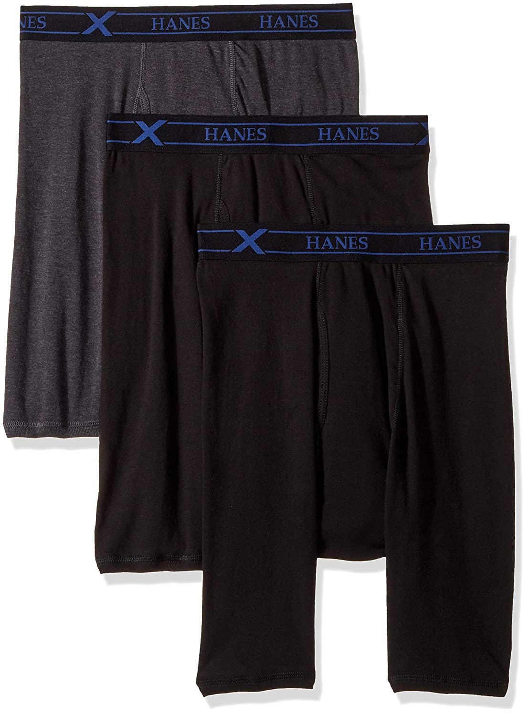 Hanes Mens 3-Pack X-Temp Comfort Long Leg Boxer Briefs Boxer Briefs