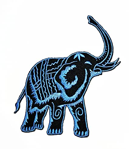 Amazon Black Blue Elephant Thailand Cartoon Movie Patch Kid