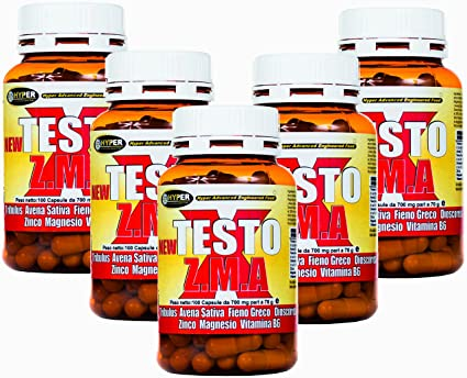 Estimulante de la testosterona natural 5 paquetes NEW TESTO X ZMA 100 cps - 70 gr