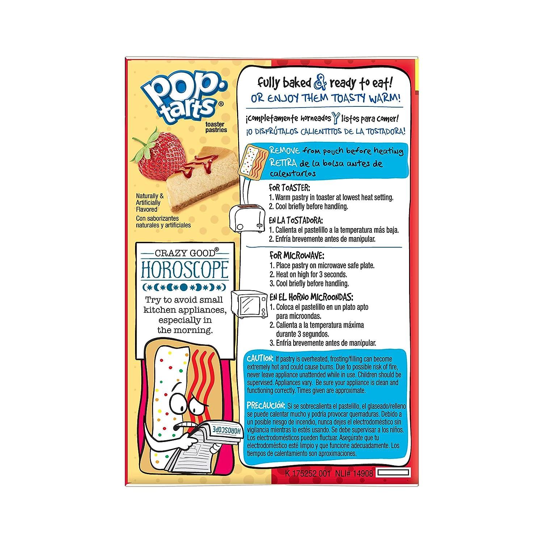 POP TARTS SPLITZ, MITAD FRESA/MITAD CHEESCAKE, 400GR: Amazon.es: Alimentación y bebidas