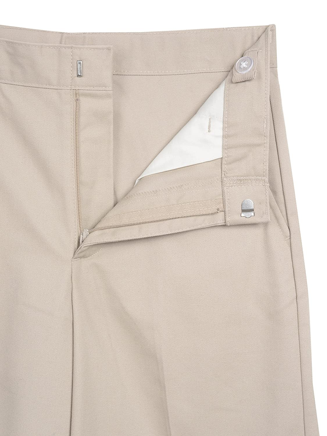 George Boys Flat Front Twill Pant With Scotchguard