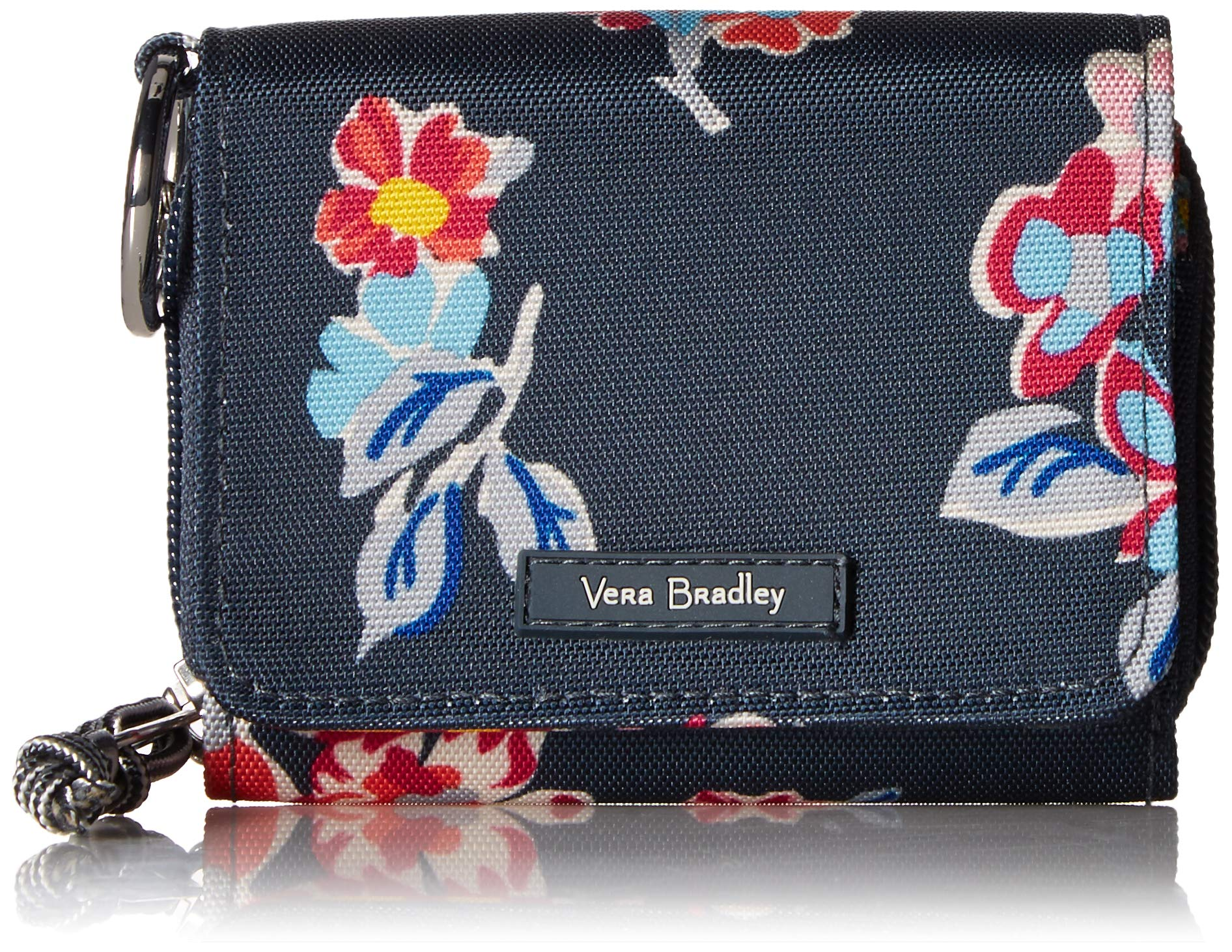 Vera Bradley Lighten Up RFID Card Case, Tossed Posies