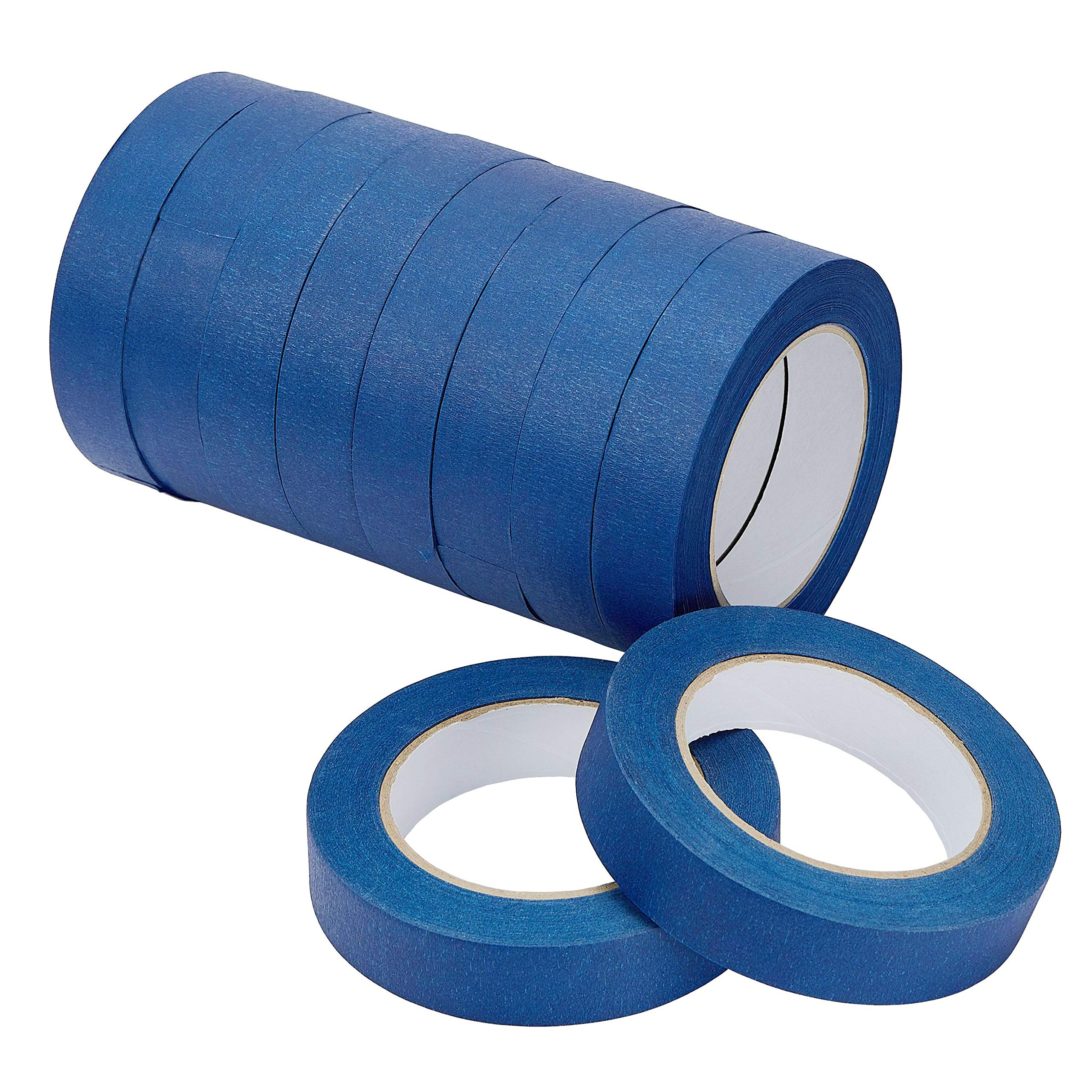 LICHAMP 10-Piece Blue Painters Tape 1 inch, Blue Masking Tape Bulk Multi Pack, 1 inch x 55 Yards x 10 Rolls (550 Total Yards) by Lichamp