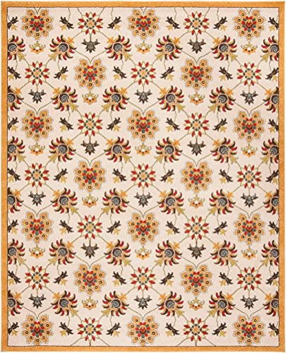Safavieh Newbury Collection NWB8704-1220 Ivory and Gold Area Rug 8 x 10